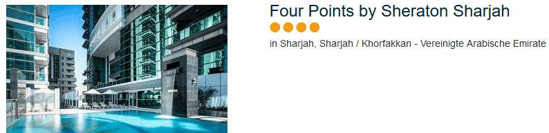 Four Points by Sheraton Sharjah - das neue 4 Sterne Hotel
