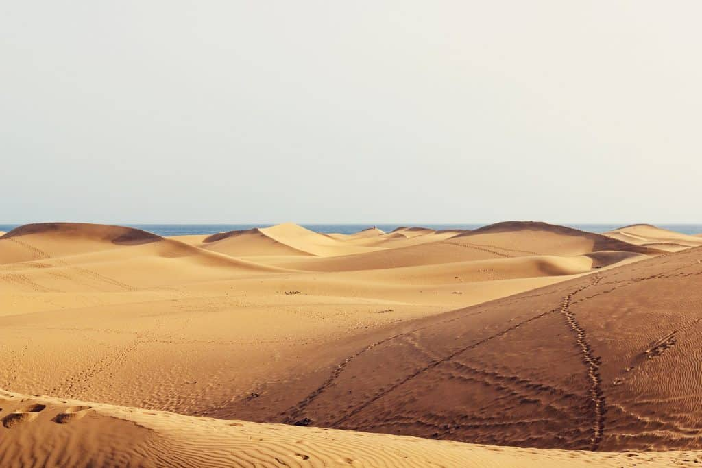 Im Süden der Insel findet man die berühmten Dünen
