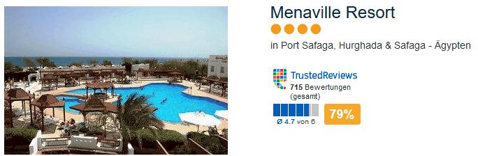 Menaville Resort 4 Sterne Hotel in Port Safaga mit 79 % positiver Bewertung