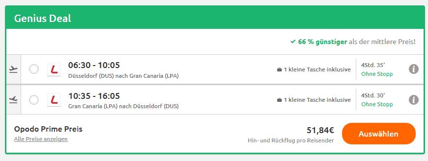 Screenshot Deal Gran Canaria im Januar - nur 110,34€ 6 Nächte