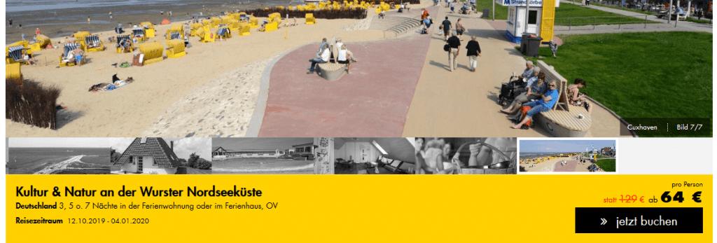 Screenshot Deal Norderney Deal - nur 64,00€ 3 Nächte Kurzurlaub an der Nordsee