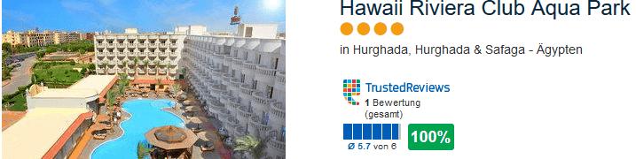 100% positive Bewertung hat das neue Club Hotel am roten Meer
