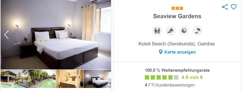 Das Brandneue Seaview Garden Hotel in Gambia mit drei Sternen