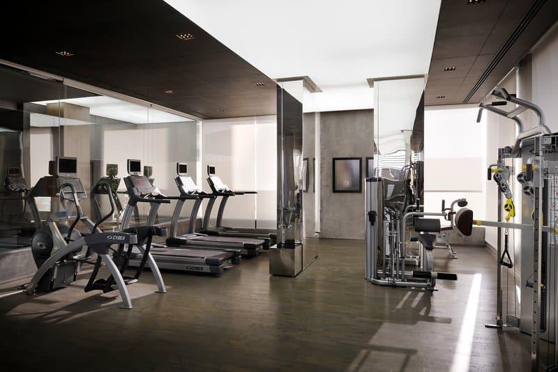 Fitnesscenter im zentralen Hotel