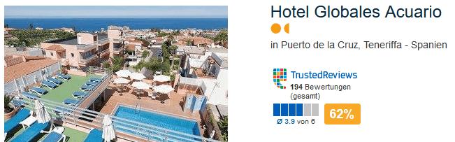 Günstigste Hotel für eine Pauschalreise