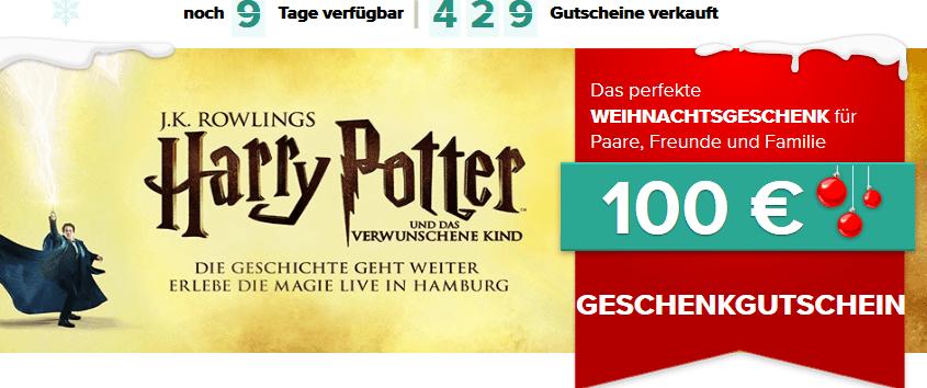 Harry Potter Gutschein - Geschenkidee Das verwunschene Kind in Hamburg