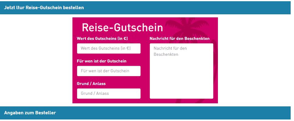 Screenshot Deal Ltur Gutschein - 50,00€ geschenkt Bei Reisegutschein ab 200,00€