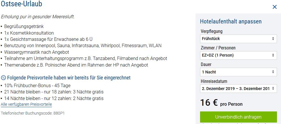 Screenshot Deal Magnat Resort & Spa - nur 16,00€ die Nacht Kolberg - Polen