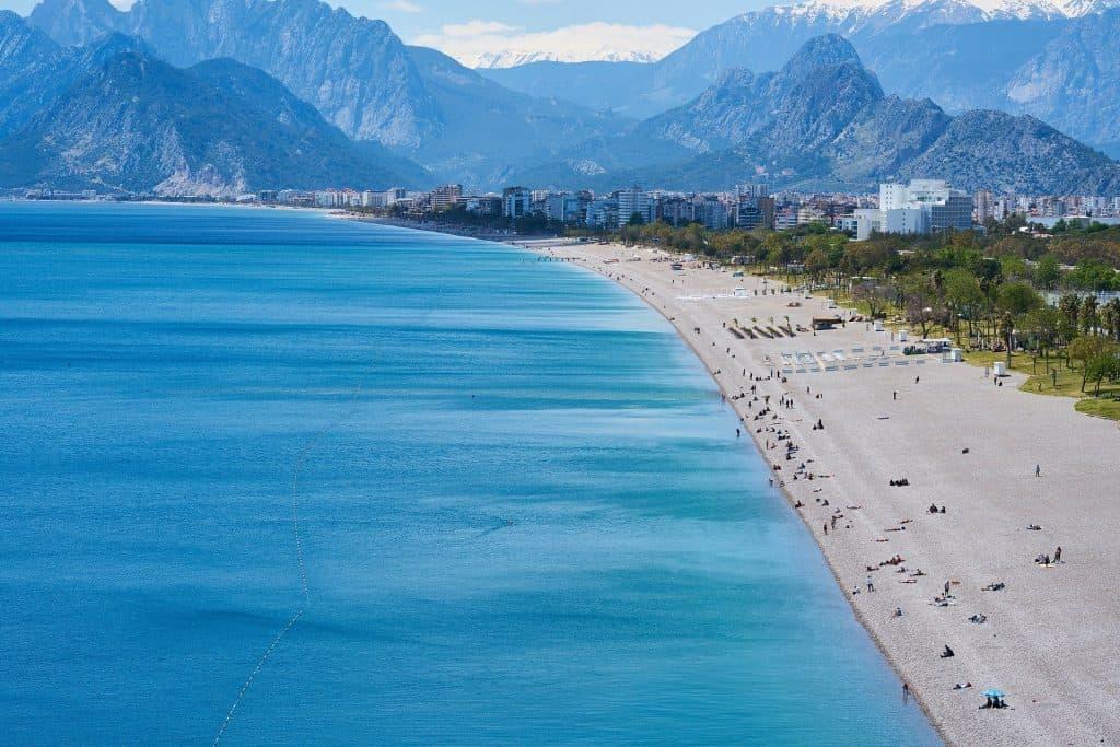 Türkische Riviera der Strand von Lara Kundu
