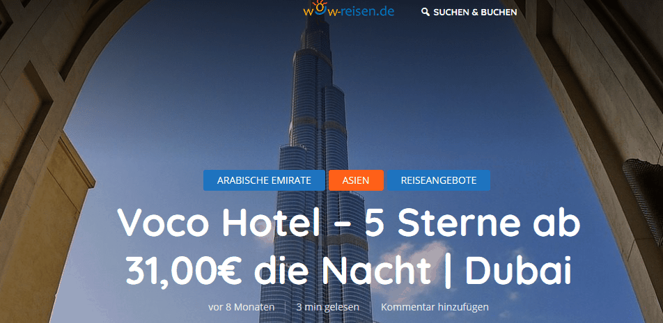 Voco Hotel 4 5 Sterne ab 31 00€ die Nacht Dubai