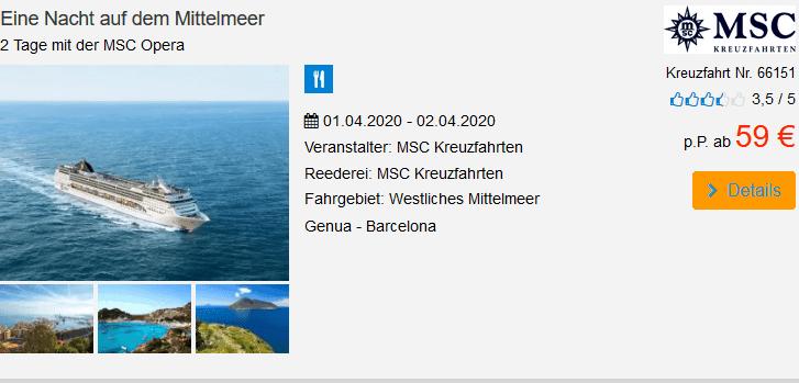 Screenshot Deal Black Friday Kreuzfahrten - ab 49,00€ Cyberweek