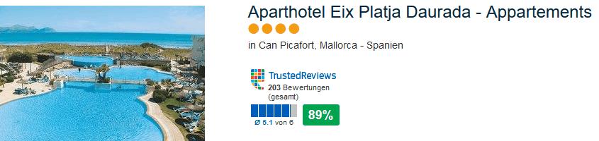 Aparthotel Eix Platja Daurada - 4 Sterne Hotel mit 84% positiver Bewertung