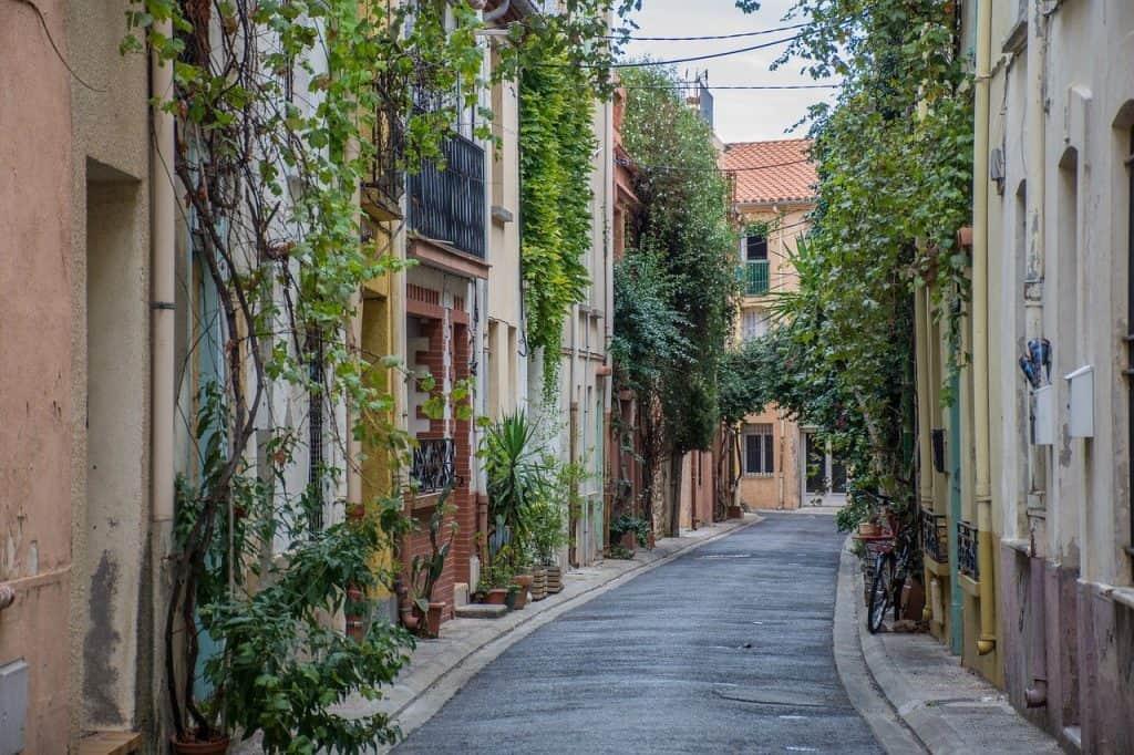 Argeles einer der beliebtesten Touristen Straßen