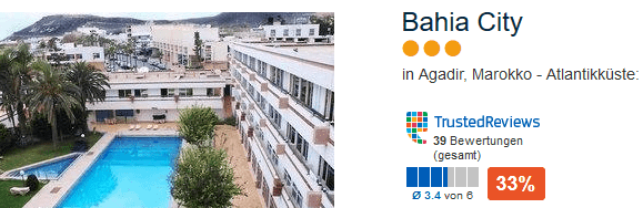 Bahia City drei Sterne Hotel - Pauschalreisen sind sortiert nach Preisen