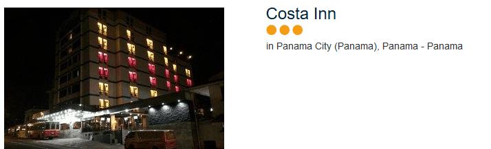 Costa Inn drei Sterne Hotel Panama City