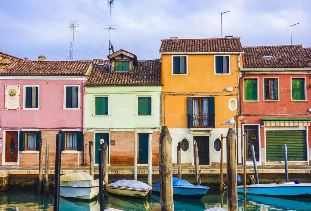Die Architektur im viertel von Murano & Burano