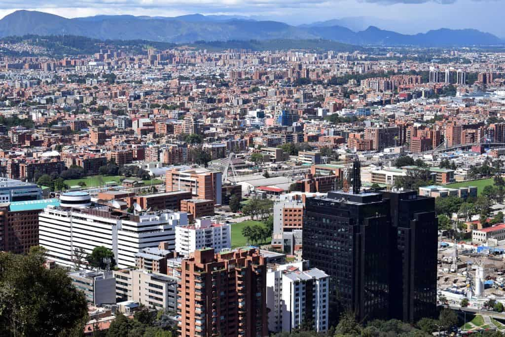 Die Aussicht auf die Hauptstadt Kolumbiens