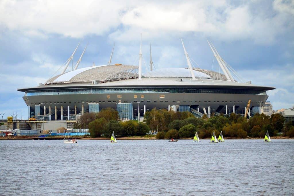 Gazprom Arena in Sankt Petersburg Austragunsstätte der Euro 2020