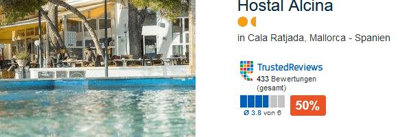 Hostal Alcina das günstigste Hotel an der Cala Agulla