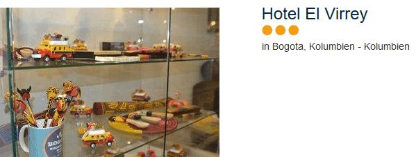 Hotel El Virrey drei Sterne im Zentrum der Hauptstadt Kolumbniens