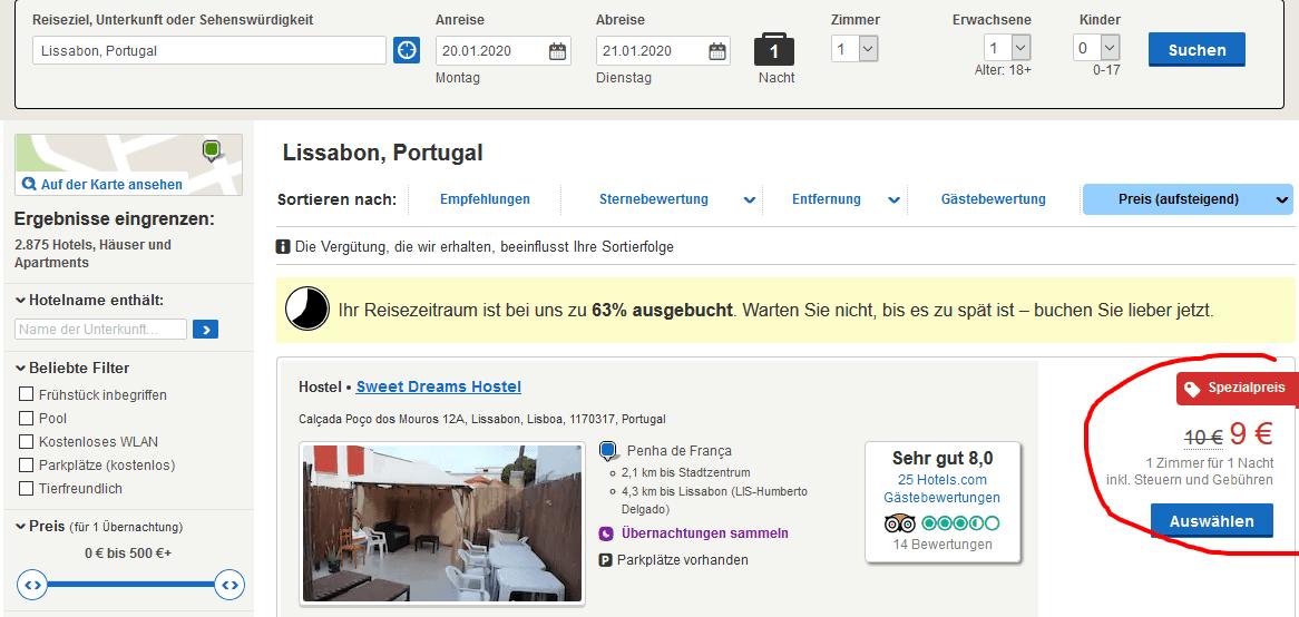 Hotel Screenshot - günstiges Unterkünfte in der City hier buchen+