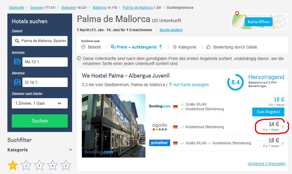 Screenshot Palma Kurztrip - nur 25,98€ Palma de Mallorca 13.01. — 14.01.