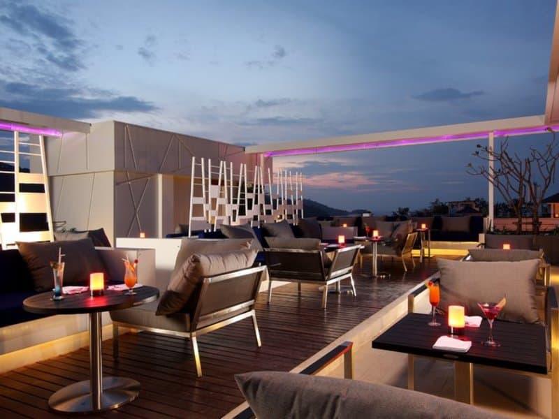 Phukets Rooftop Hotel direkt am Hard Rock Café