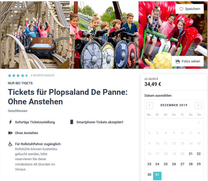 Plopsaland De Panne Tickets ohne Anstehen - Screenshot Silvester Deal