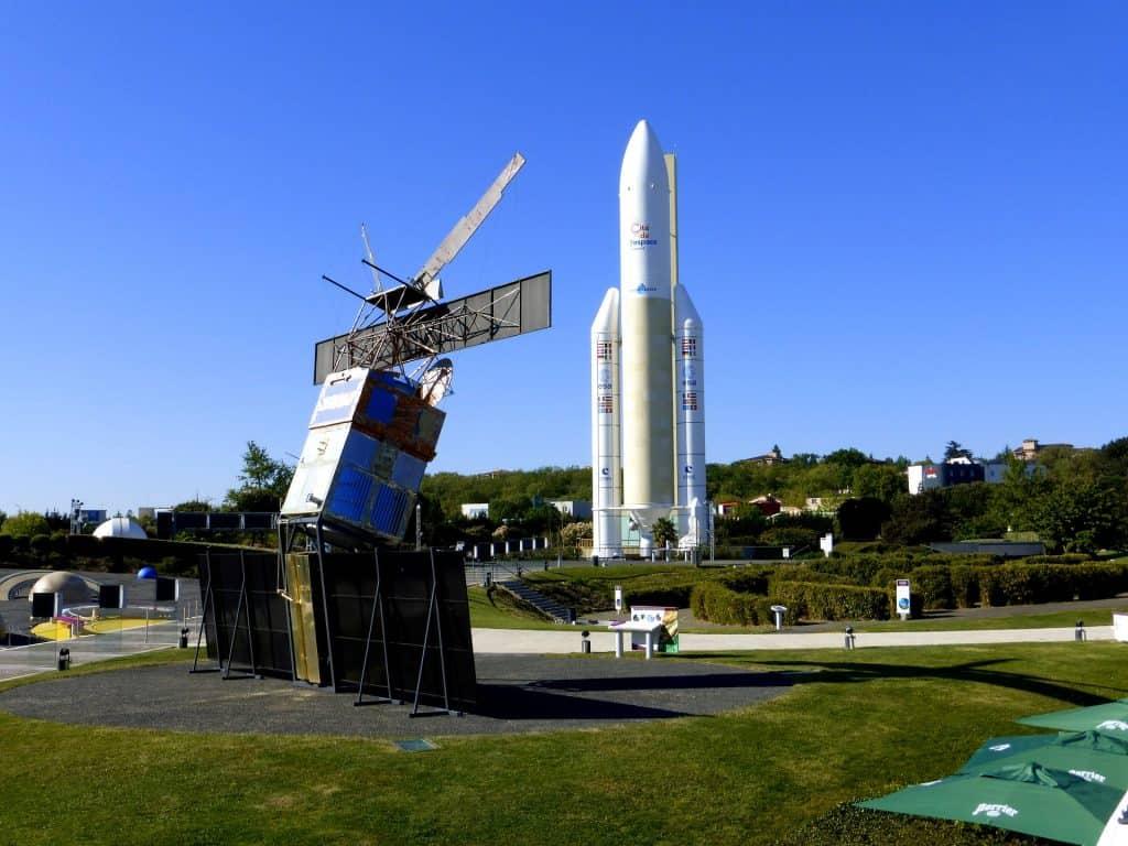 Raumfahrt Station in Südfrankreich