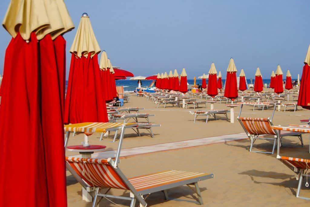 Rimini ist der nächste Strandabschnitt