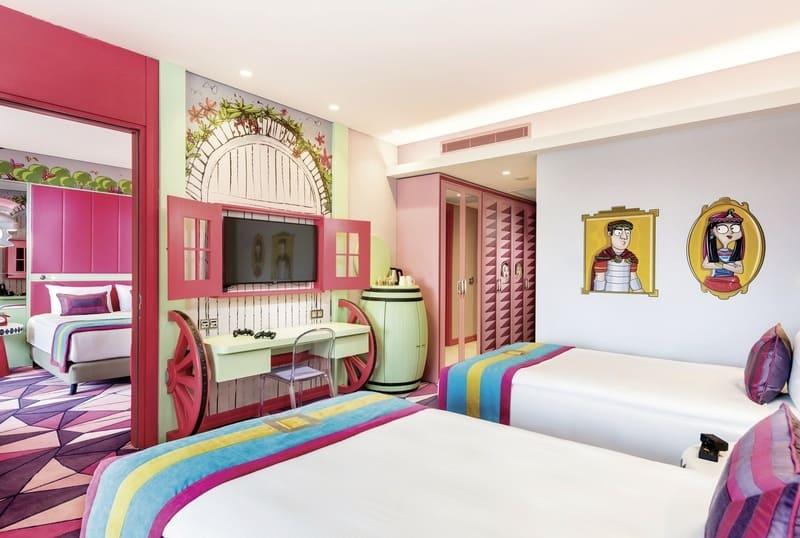 Schlafzimmer im 5 Sterne Hotel