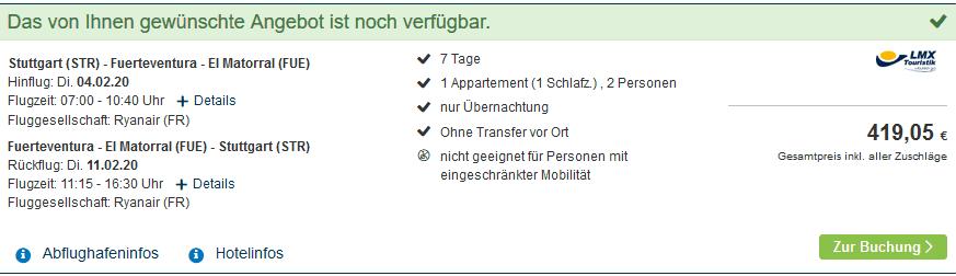 Screenshot Deal 7 Tage Teneriffa – Eine Woche Pauschalreisen für nur 207,00€ Kanaren