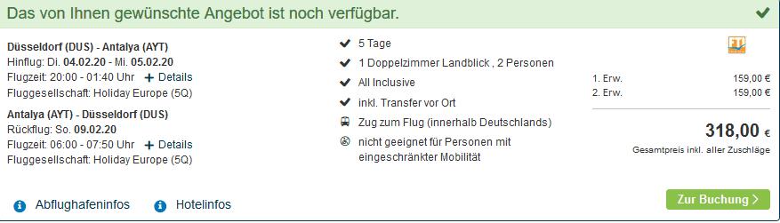 Screenshot Deal Sensitive Premium Resort & Spa 5 Sterne - Pauschalreise nur 159,00€
