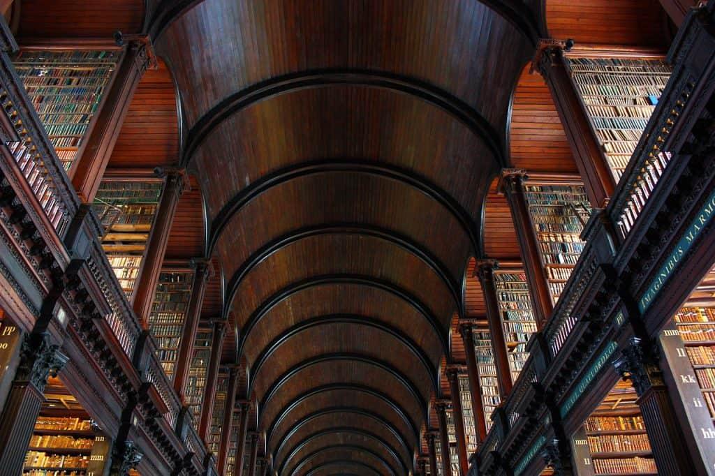 Trinity College - die Bücherei der Universität