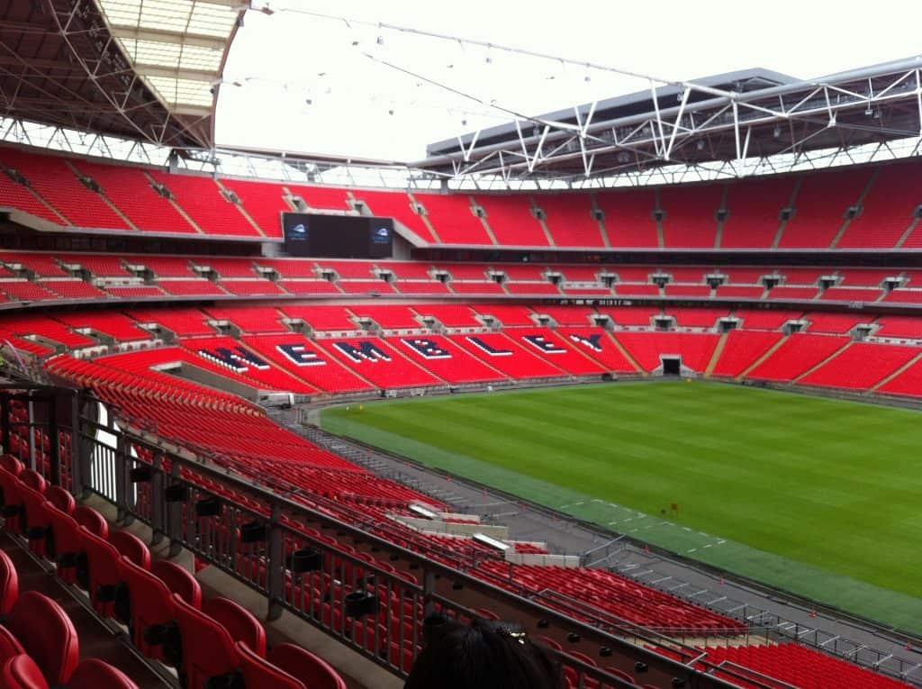 Wembley Stadium hier findet das EM 2020 Finale statt