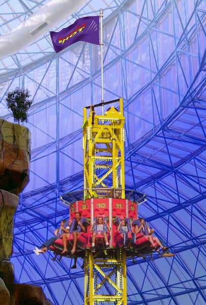 Zirkus Hotel Nevada - Power Tower - Fallturm im Hotel mit Freizeitpark