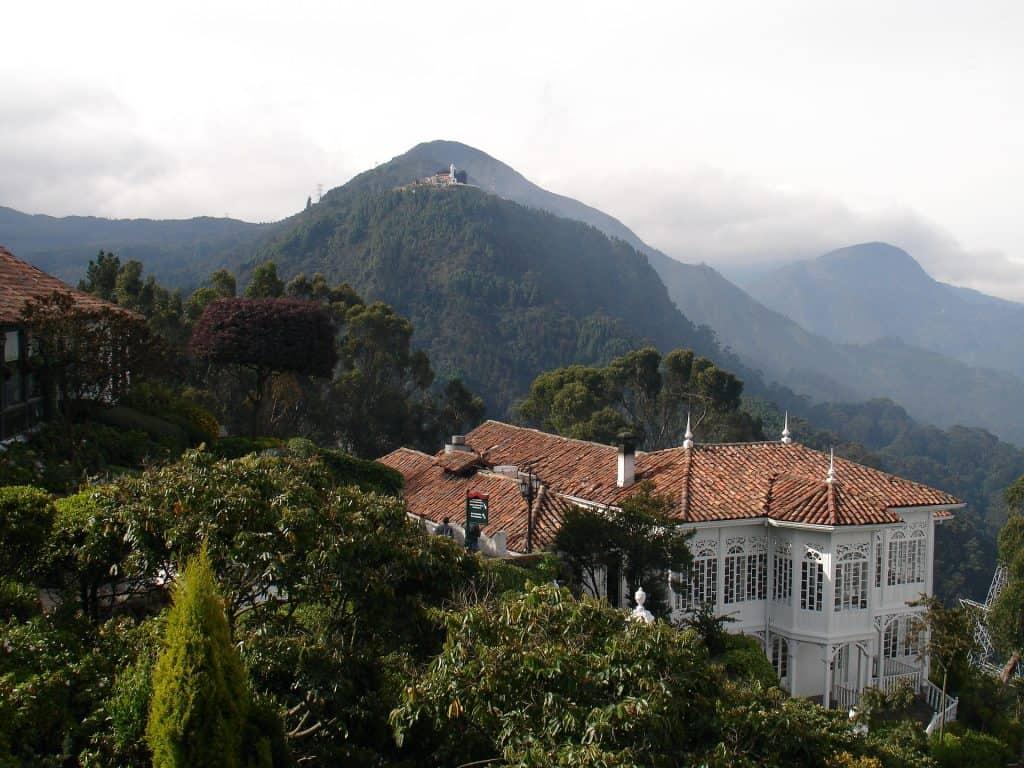Das Gebirge in Zentral Kolumbien