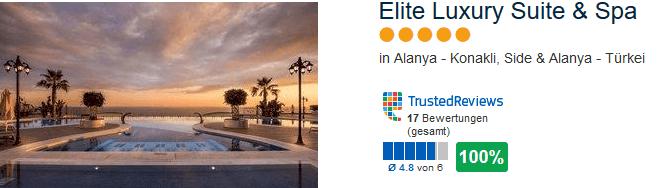 100% positive Bewertung - Elite Luxury Suite & Spa - Türkei Konakli