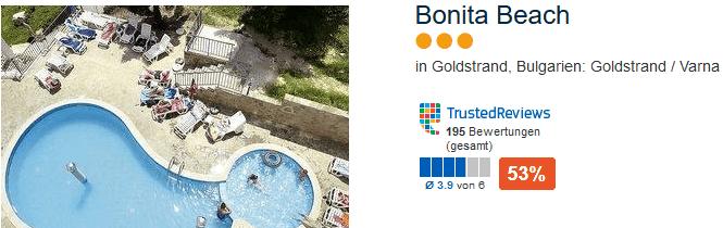 3 Sterne Hotel Bonita Beach für Mannschaftsfahrten, Partyurlaub