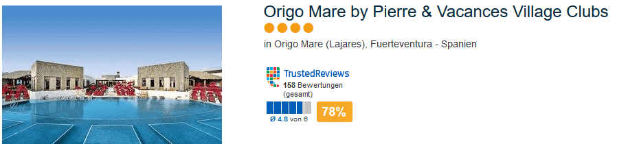 4 Sterne Hotel - 78% positive Bewertung - Origo Mare by Pierre & Vacances Village Clubs