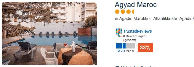 4 Sterne Hotel - eine Woche Agadir Pauschalreise in Marokko nur 135,00€