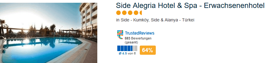 5 Sterne Side Algeria Hotel & Spa - Erwachsenenhotel - Beispiel