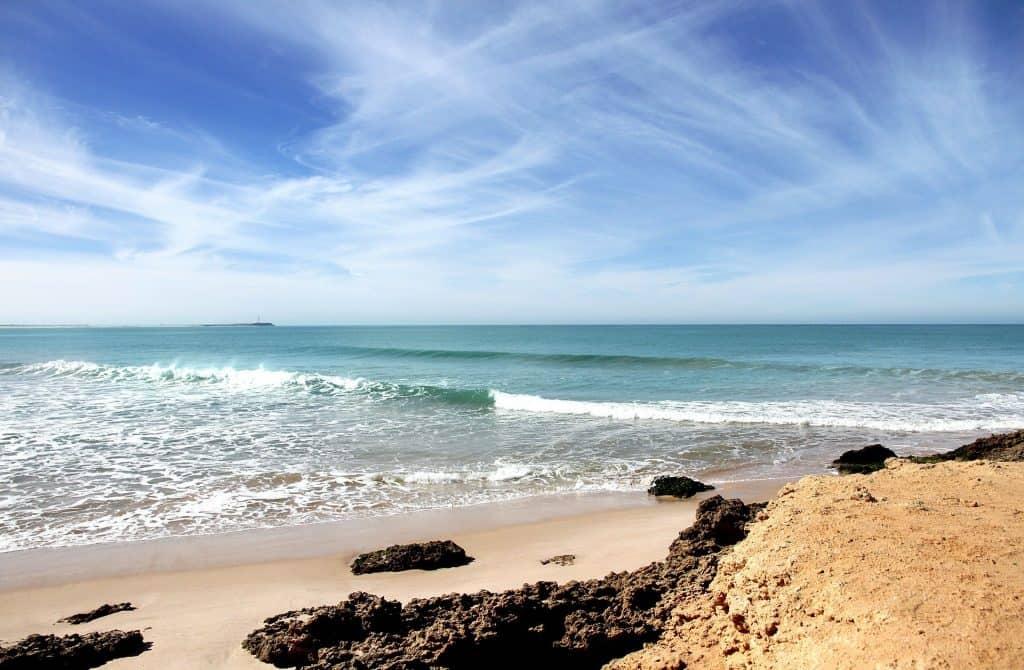 Agadir Reisen - der Strandabschnitt liegt hinter der Promenade