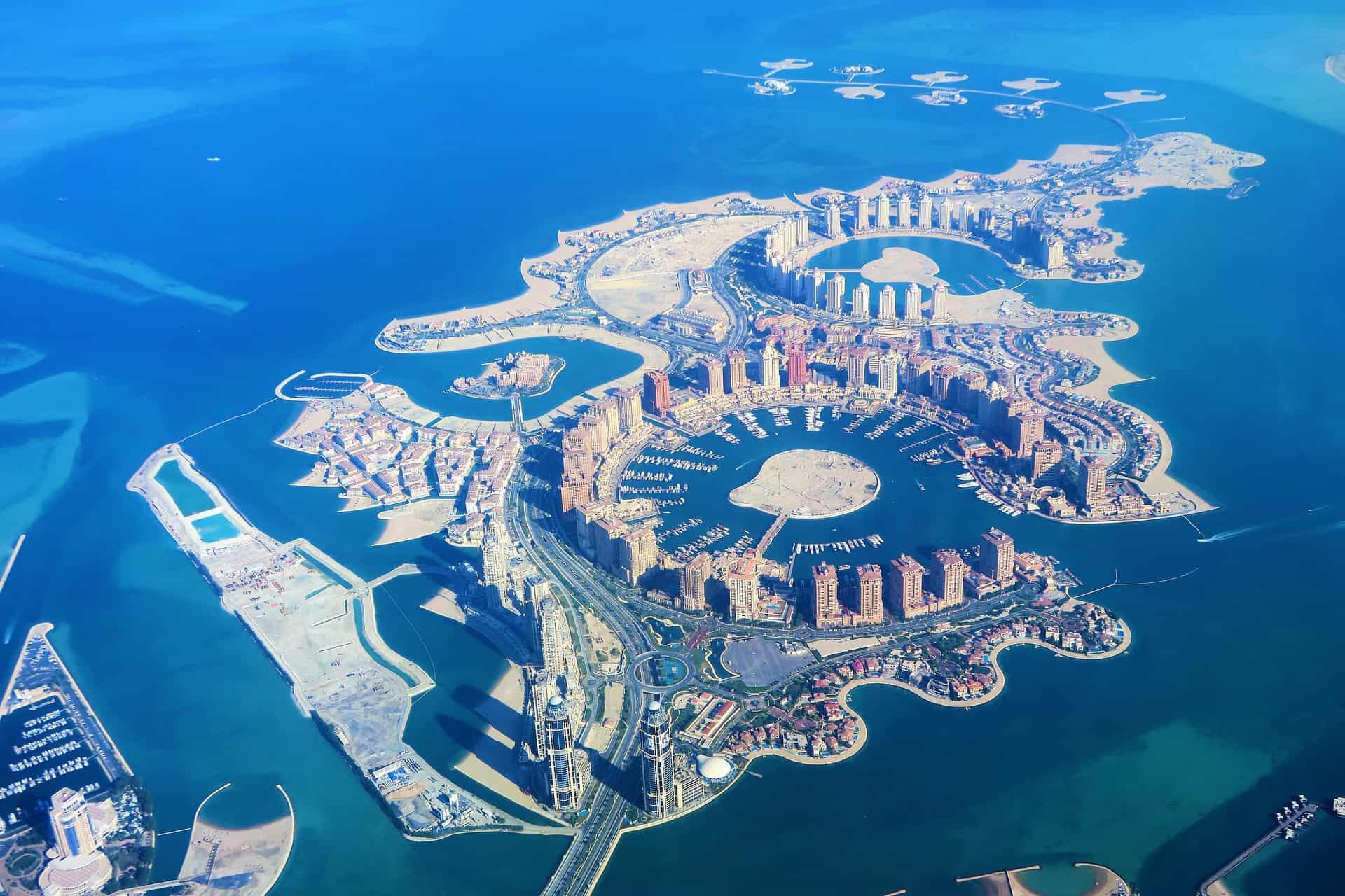 Dohar die künstlichen Inseln in Katar