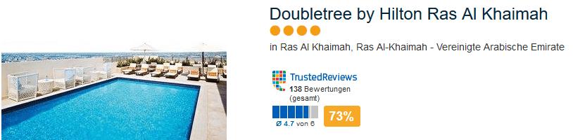 Doubletree by Hilton Ras Al Khaimah - 4 Sterne Hotel
