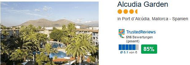 Gute Bewertung bietet das Hotel in Alcudia