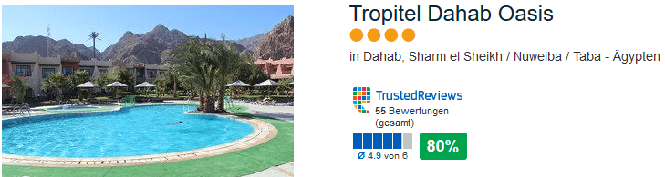 Gute Bewertung hat das 4 Sterne Hotel