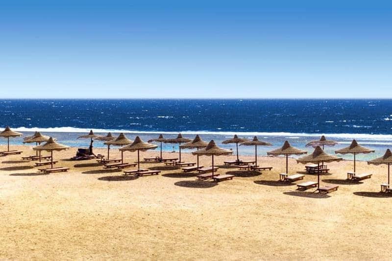 Hauseigene Strandabschnitt