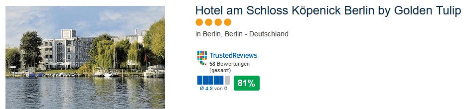 Hotel am Schloss Köpenick Berlin by Golden Tulip - perfekt für günstige Städtereisen