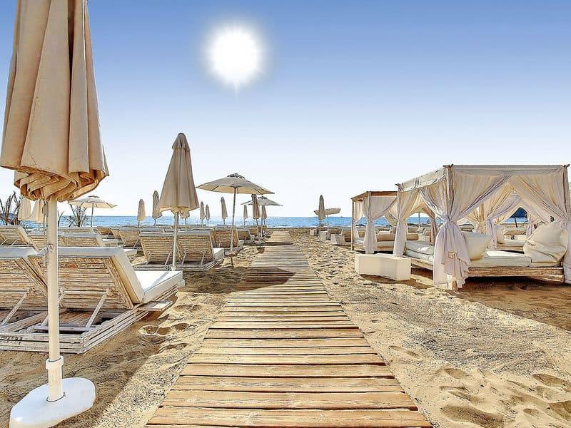 Hoteleigener Strandabschnitt